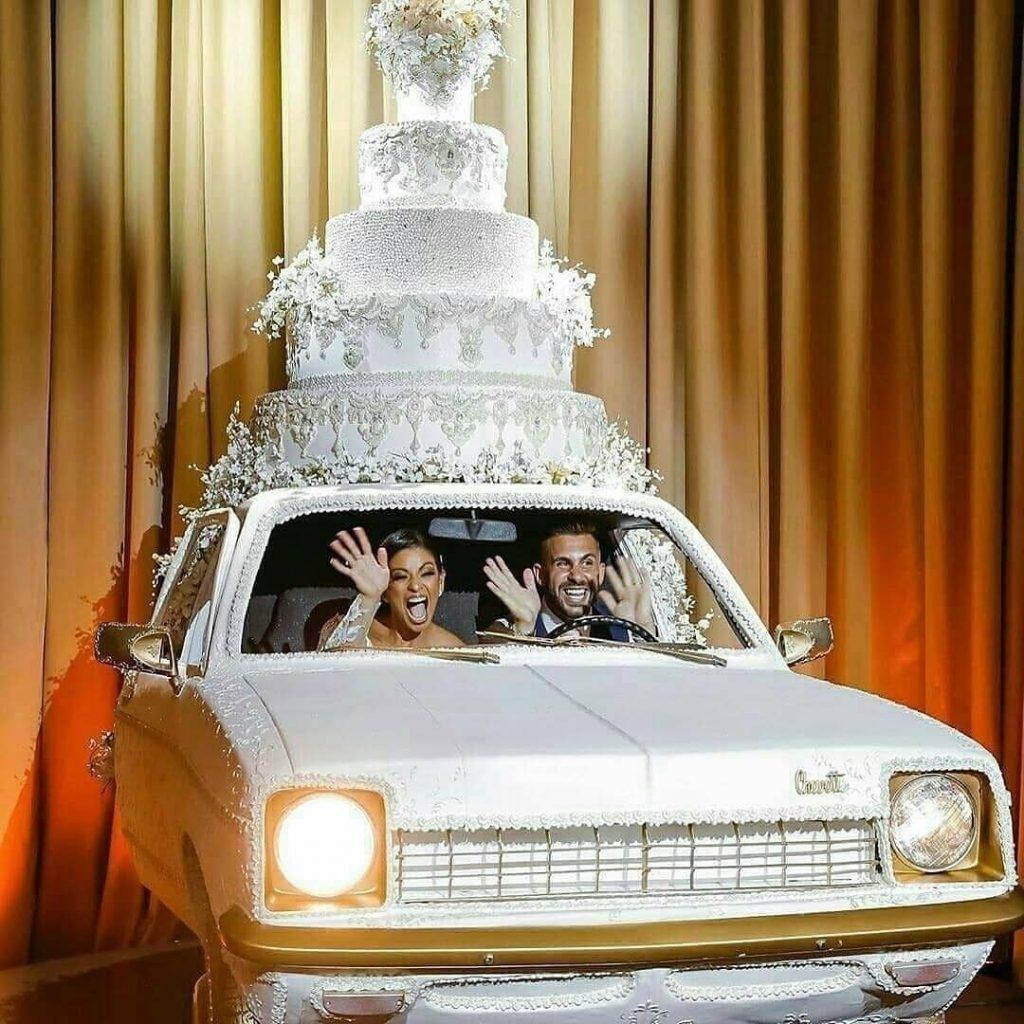 Car theme giant wedding cake