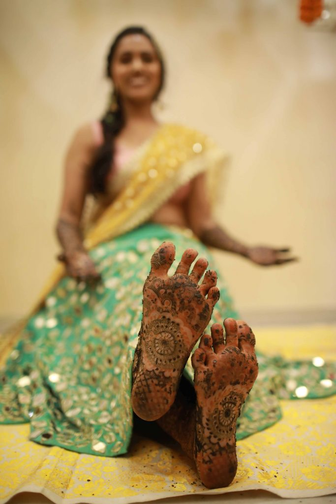 Bride Feet Henna Designs