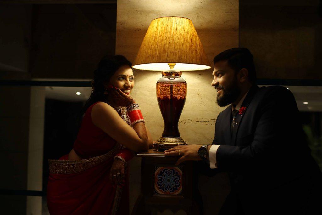 Wedding Reception photos of Indian bride & Groom