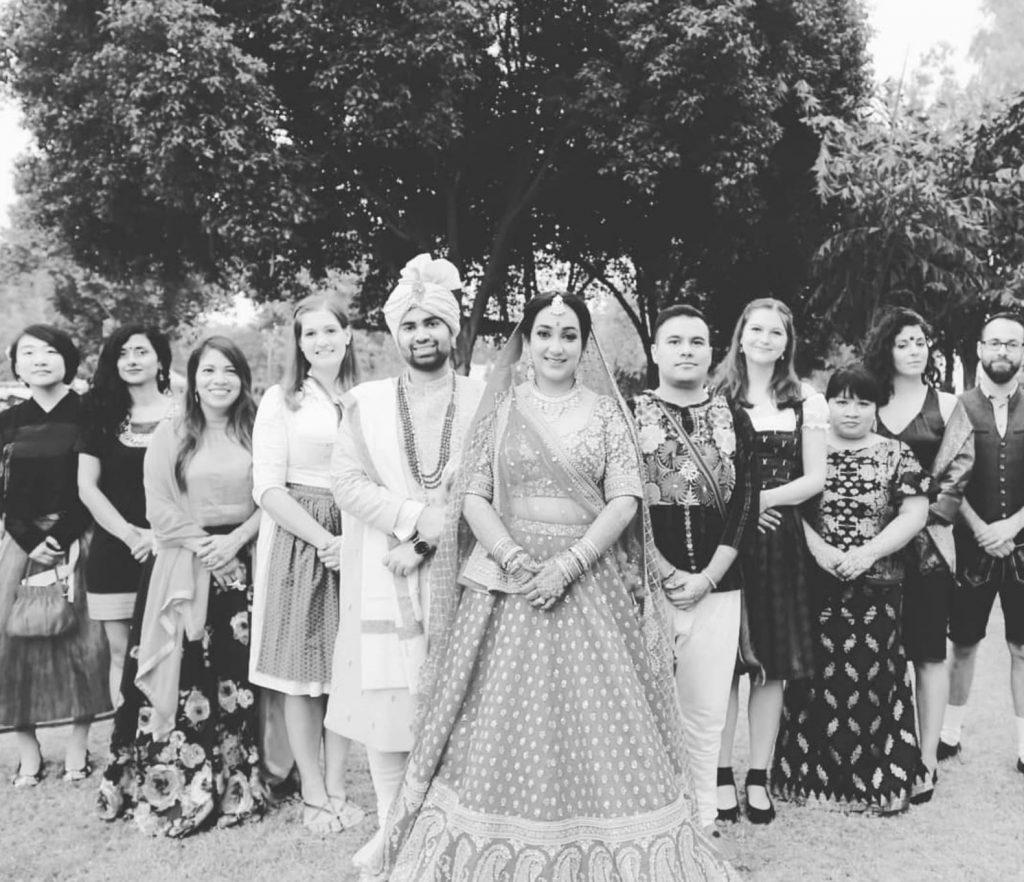 Black & white wedding photography