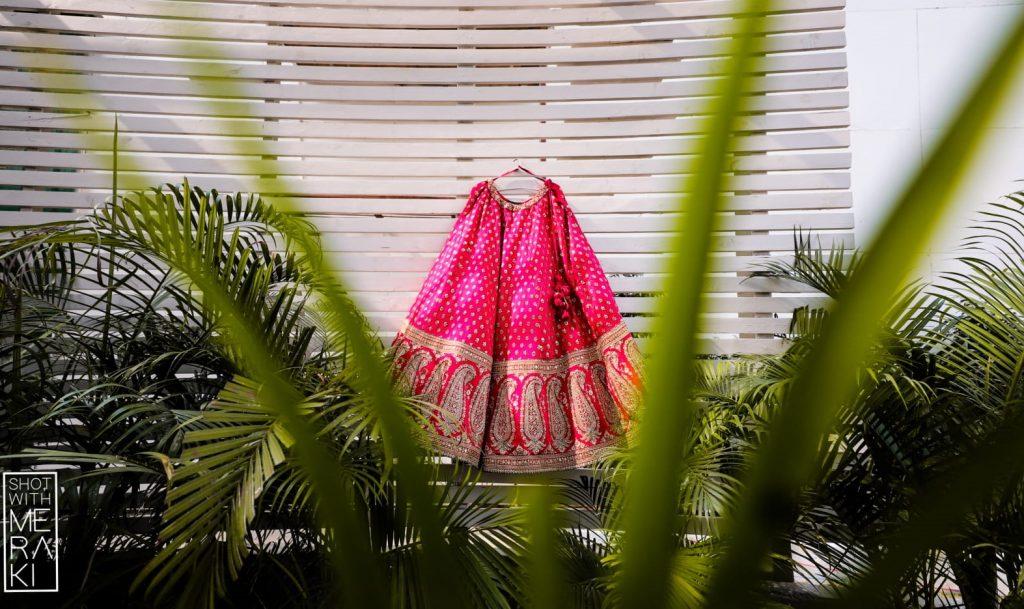 Minimalistic Sabyasachi bride pink lehenga