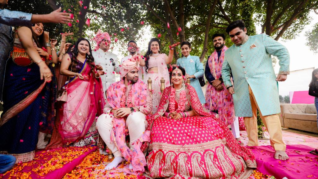 Indian bride & groom portraits