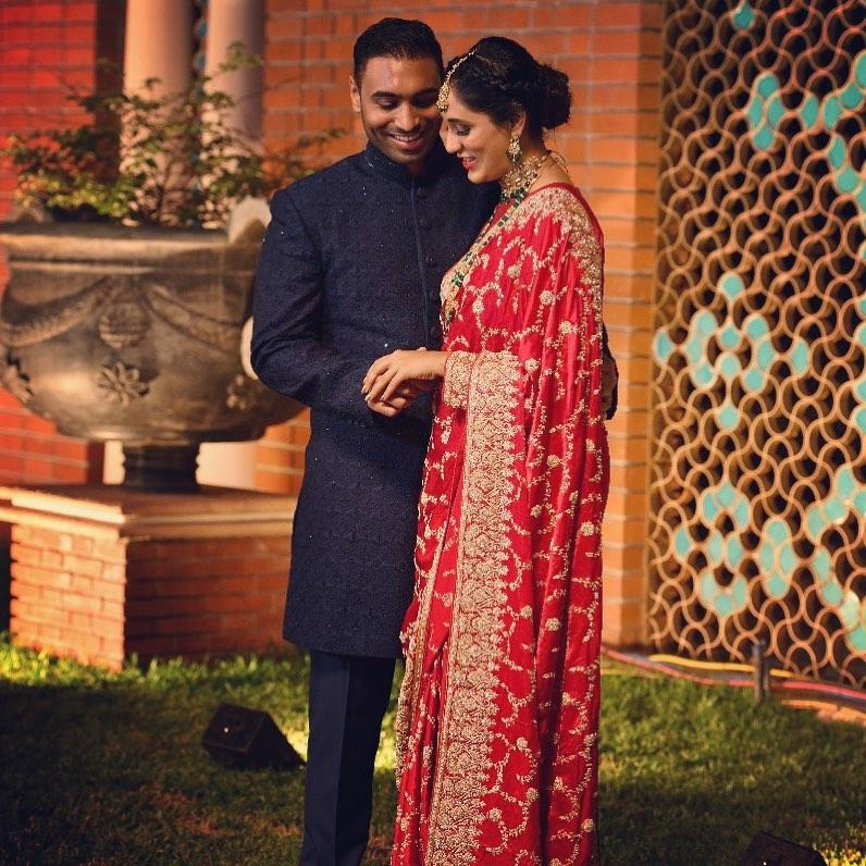 Indian bride & groom engagement photos