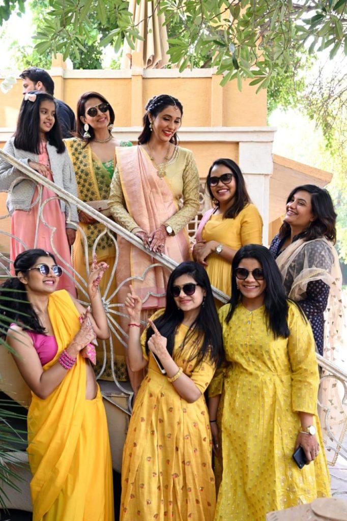 Gujarati Bride in saree for Vidhi ceremony
