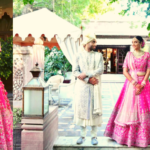 Destination wedding in Jodhpur with a pretty bride in pink lehenga
