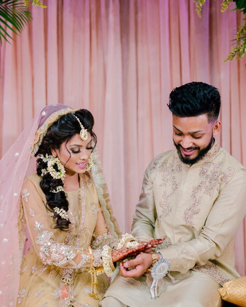 Muslim bride & groom mehendi ceremony
