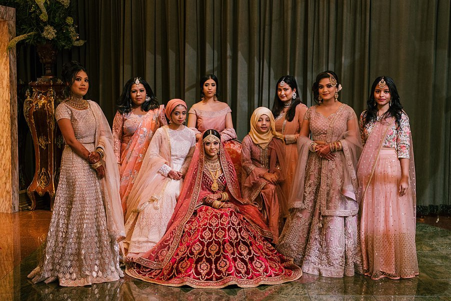 Indian bridesmaids outfits