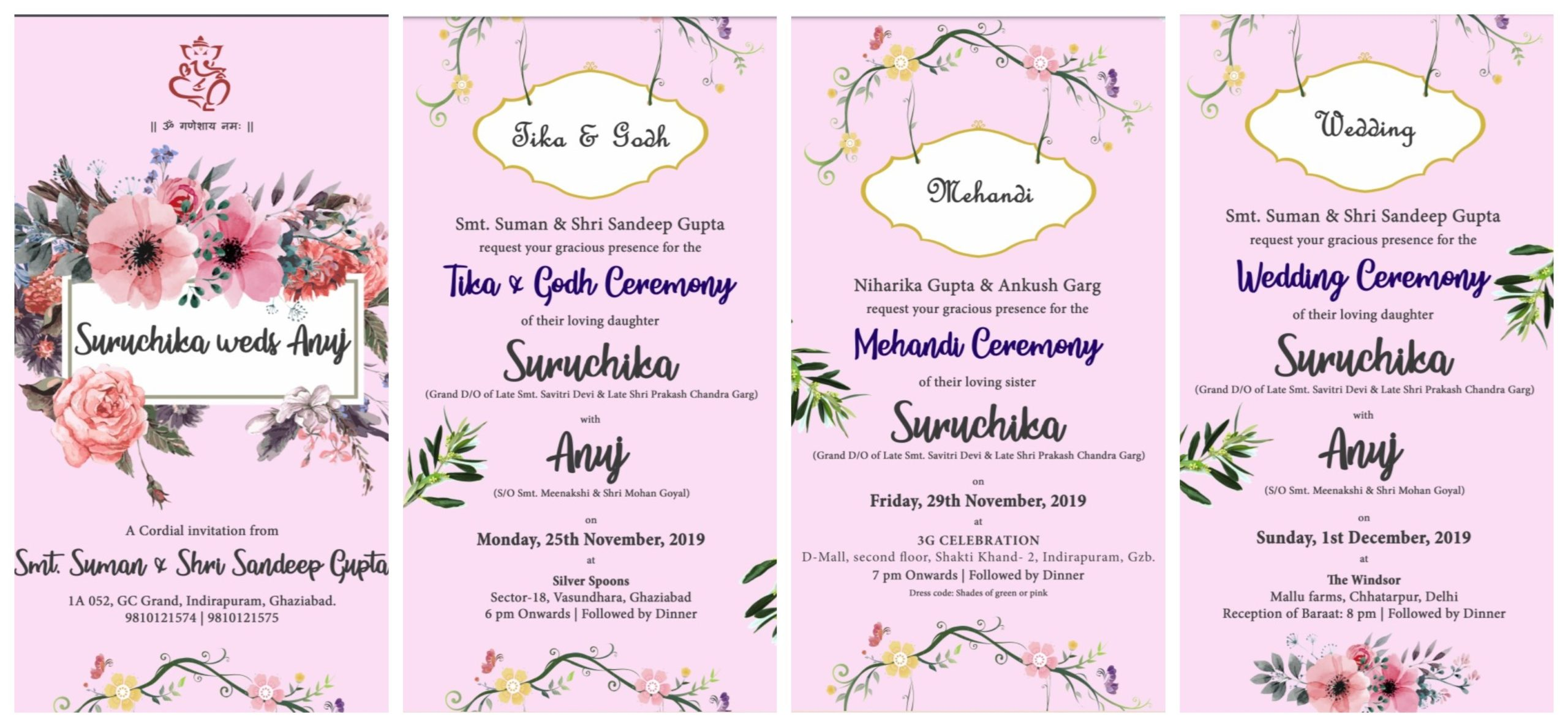 Indian Wedding PDF Invite