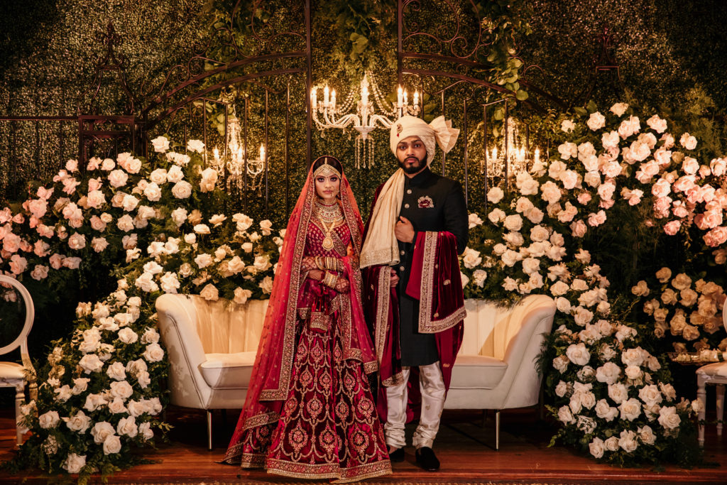 Royal Sabyasachi bride & groom for Nikkah