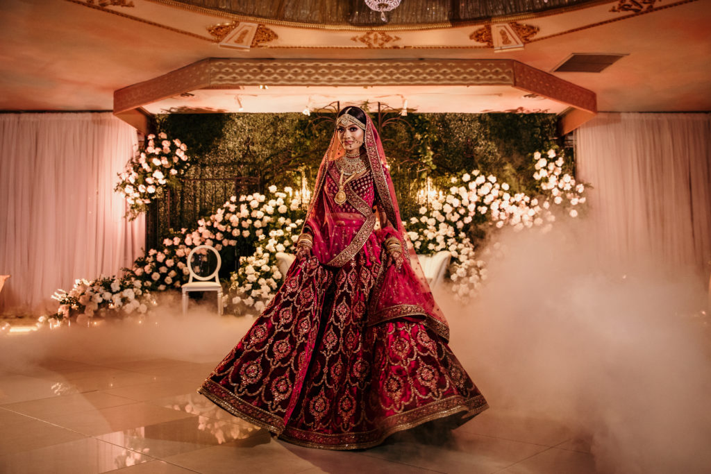 Sabyasachi bride in red lehenga