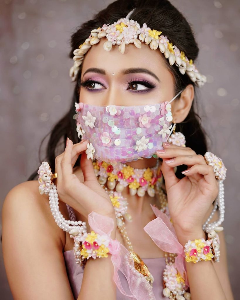 Fashionable Face Masks for Brides