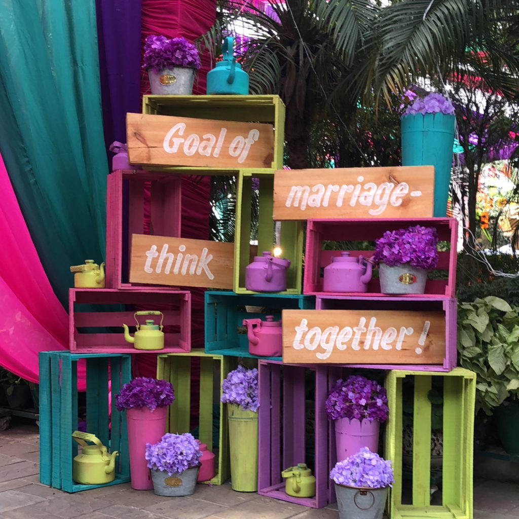DIY Fruit boxes for weddings