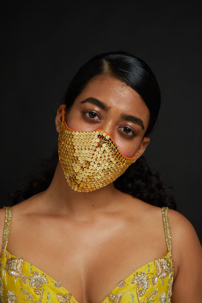 Designer wedding face masks by Kalki Fashion