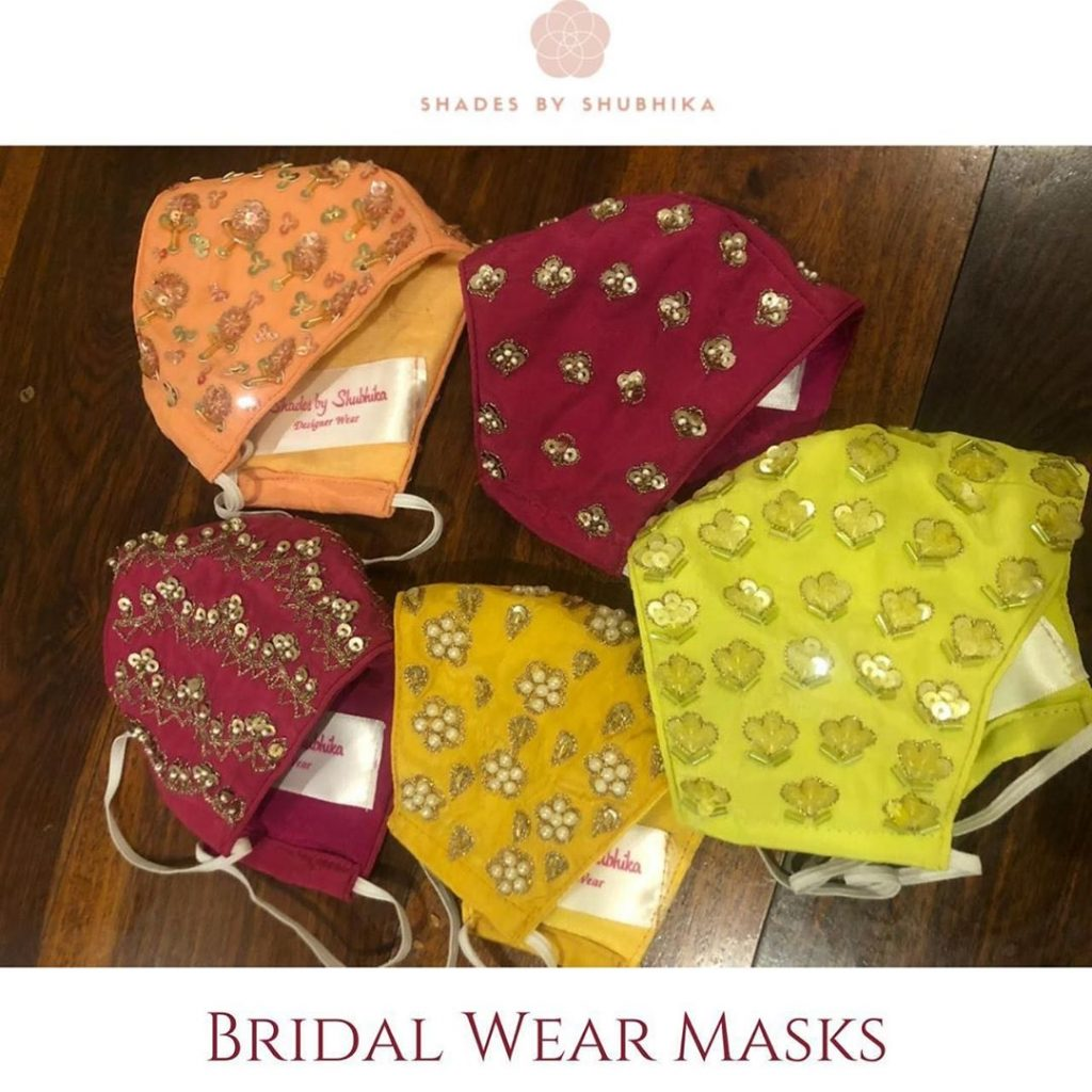 colorful face masks for wedding