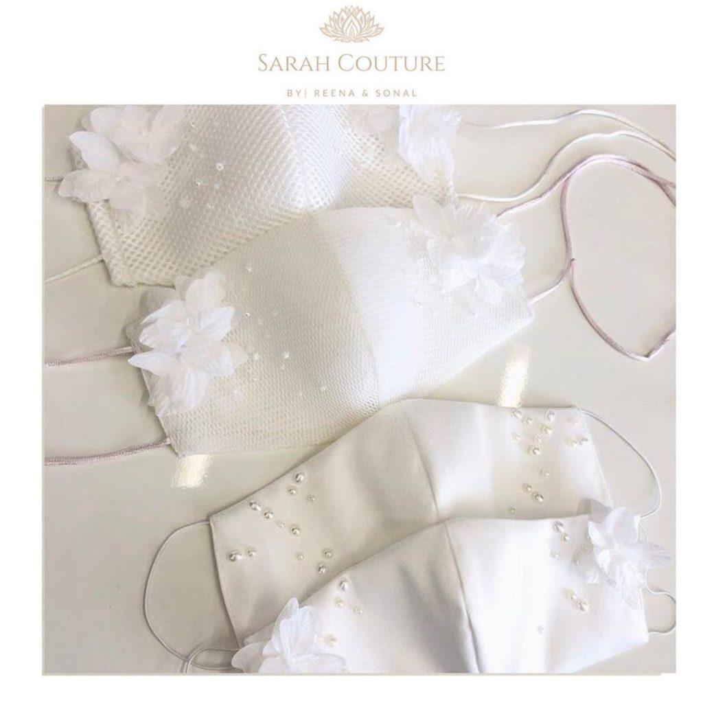 Buy Designer bridal masks from Sarah Couture