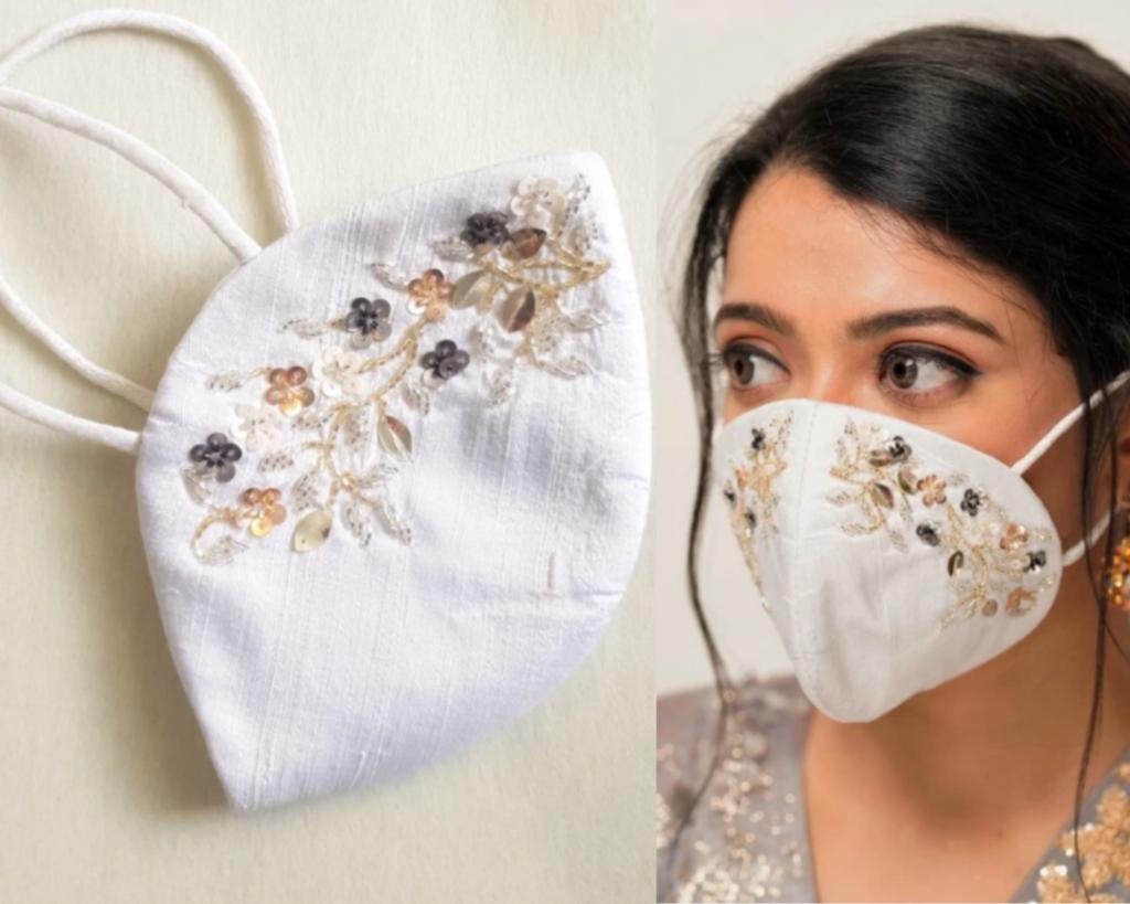 fashionable wedding masks