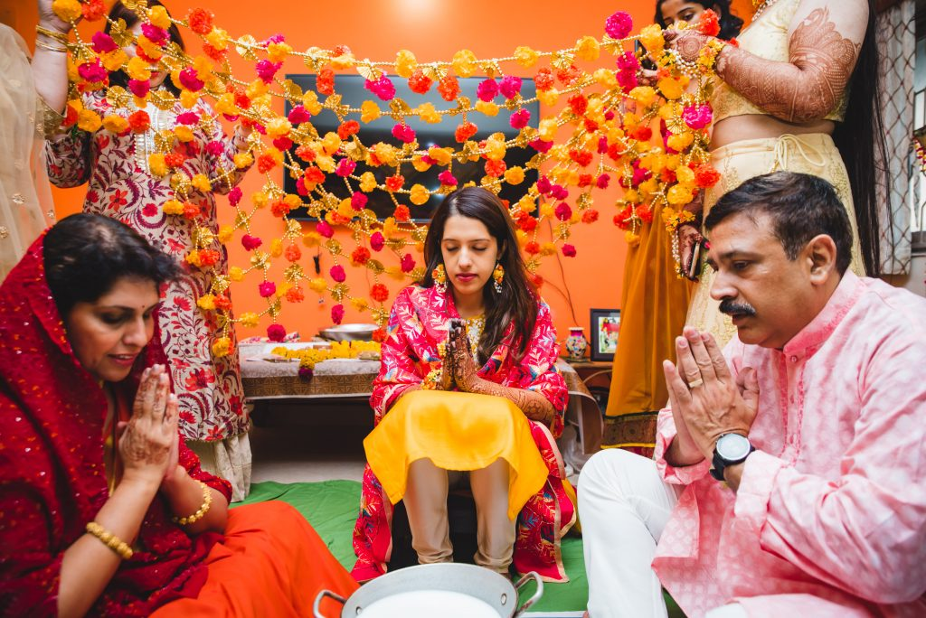 Haldi & choora ceremony