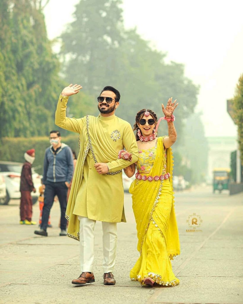 Mehndi outfits for Indian groom