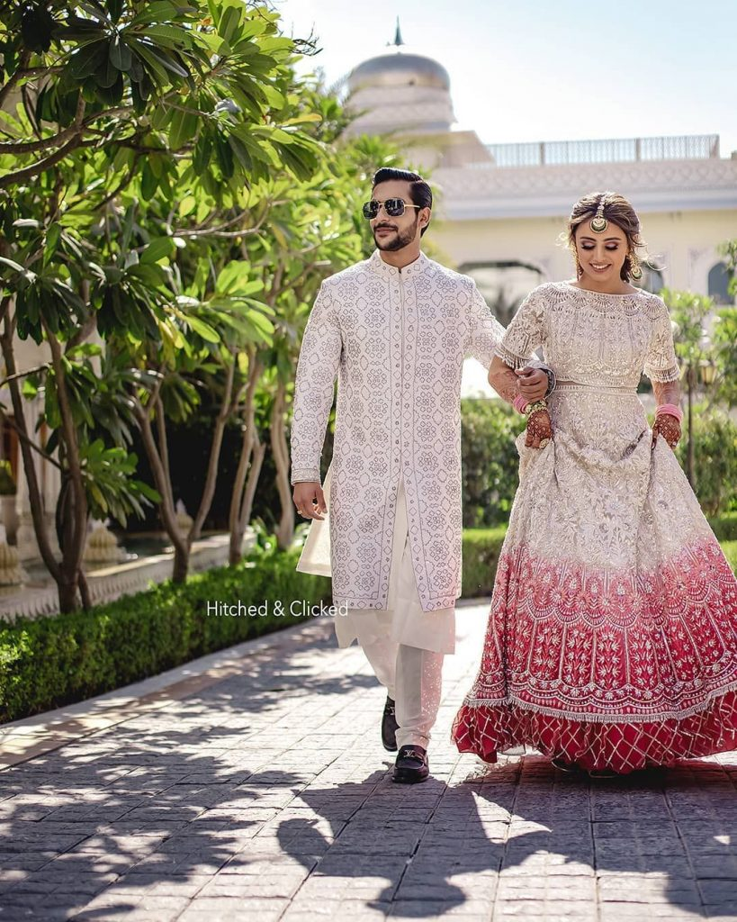 color coordinated mehendi Outfits