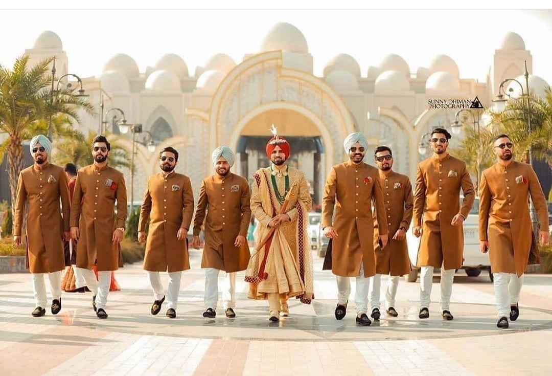 Sikh groom & groomsmen wedding outfits