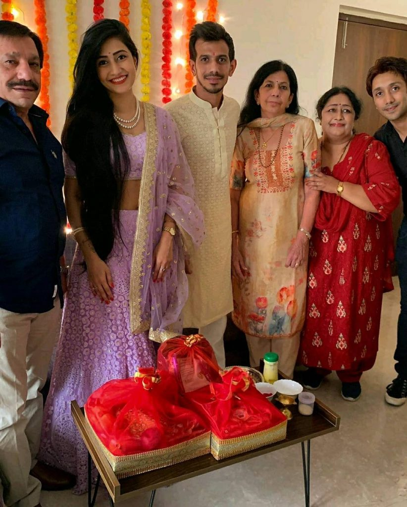 Yuzvendra Chahal & Dhanashree Verma Roka ceremony pictures