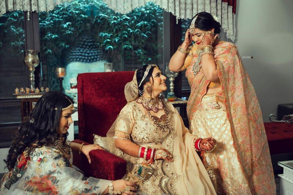 Indian bride & her bridesmaids