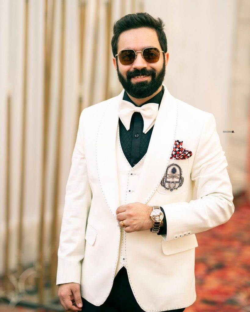 Indian groom engagement outfit