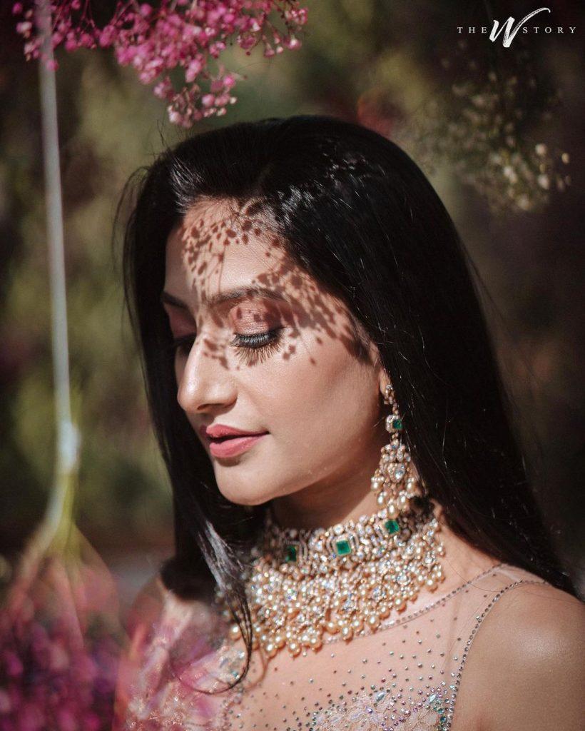 Dhanashree Verma in Tarun Tahiliani Lehenga for Engagement