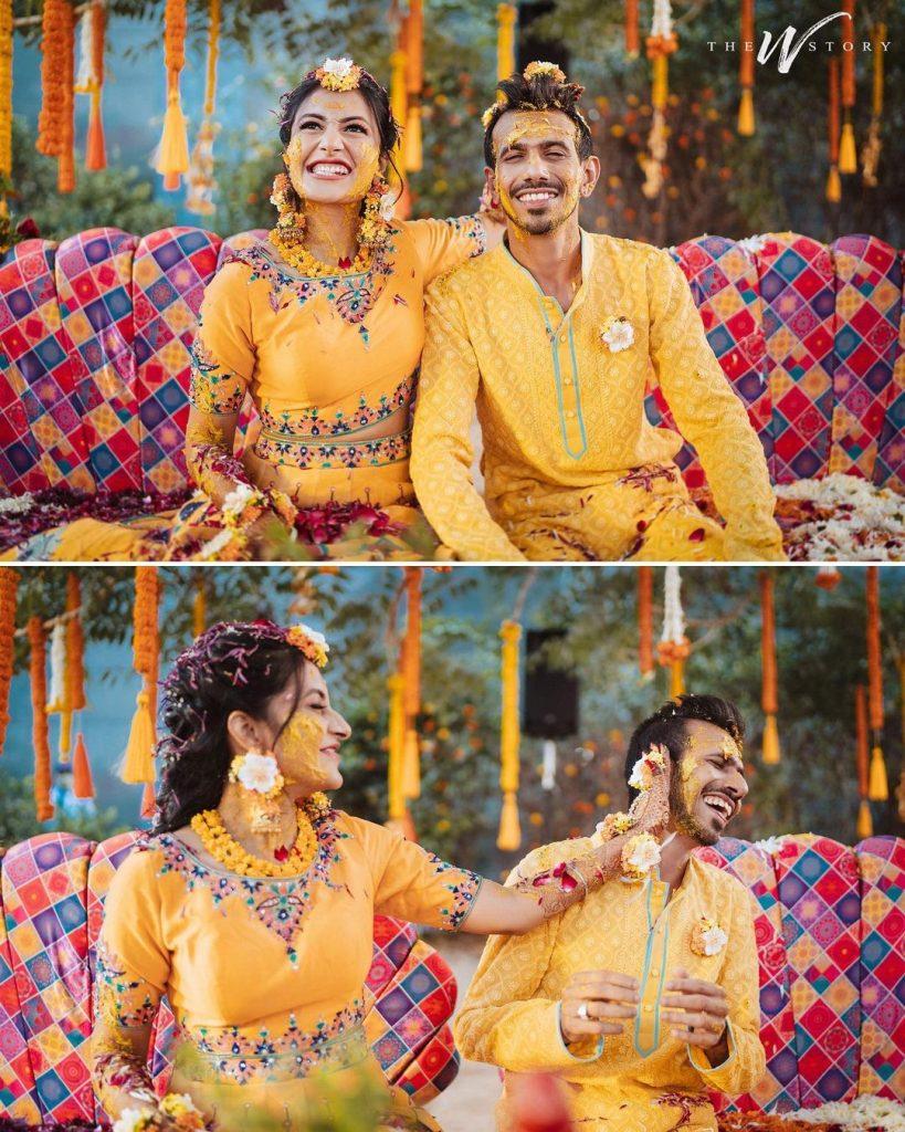Yuzvendra Chahal & Dhanashree Verma Haldi photos