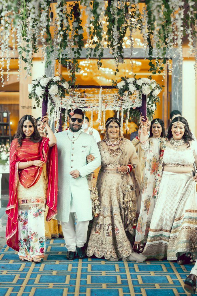Indian bridal entry
