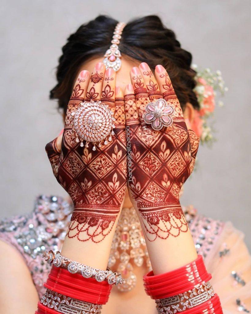 Above hand henna design