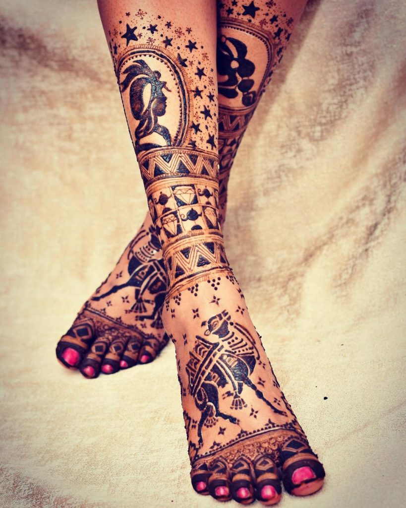 trendsetter bridal mehndi designs for bridal feet