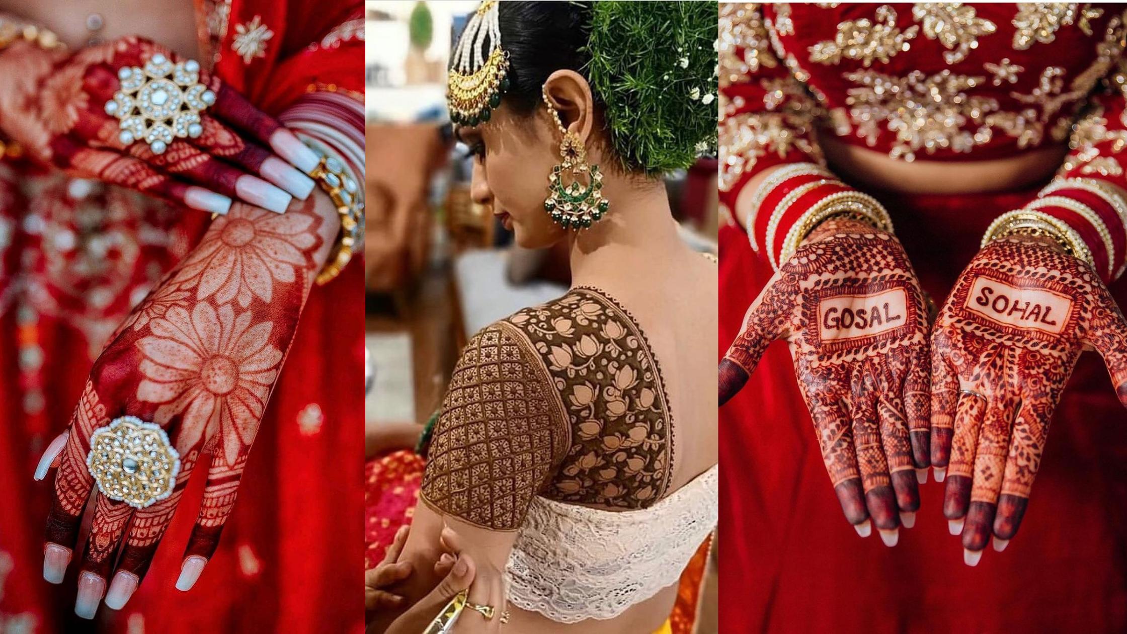 Latest Trendsetter Bridal mehndi designs 2021