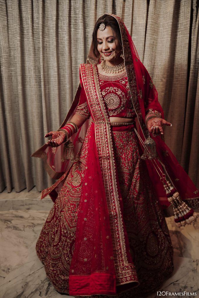 Twirling shot of bride
