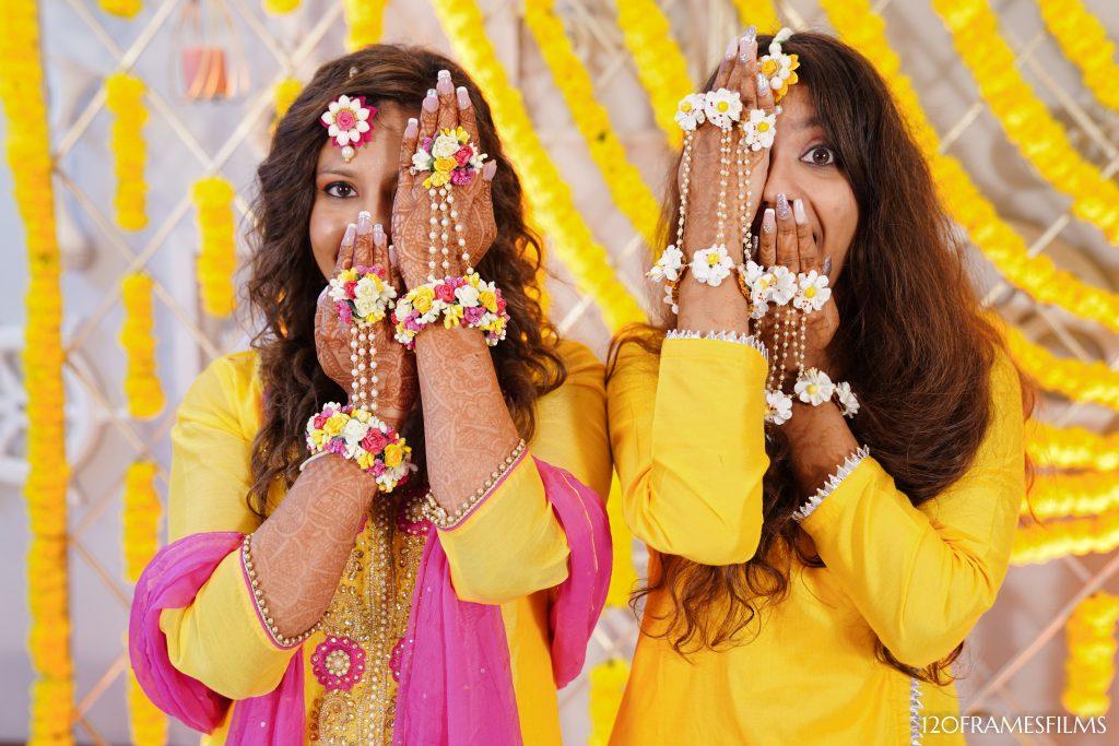 Indian bridesmaids haldi shoot