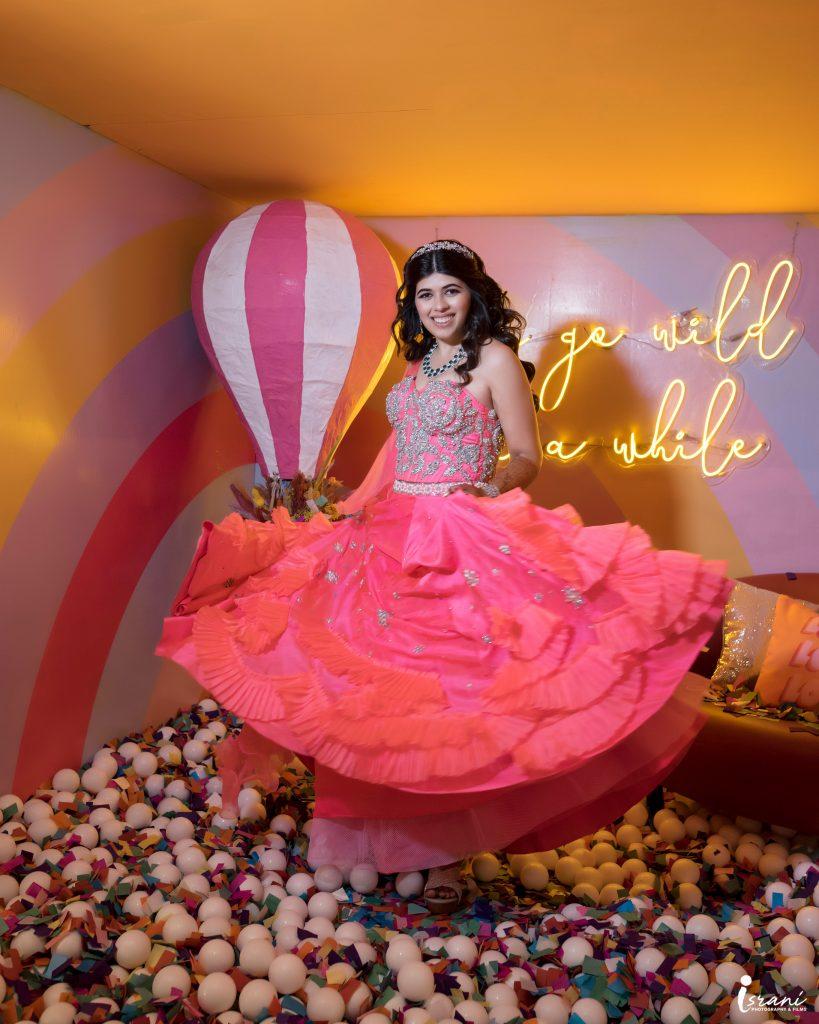 Megha Israni in Pink Lehenga For Mehndi