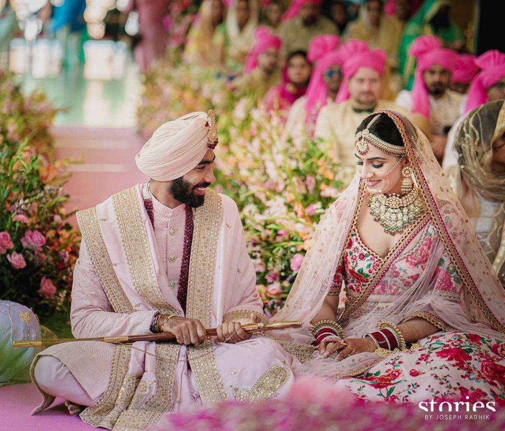 Indian Cricketer Jasprit Bumrah & Sanjana Ganesan wedding in Goa