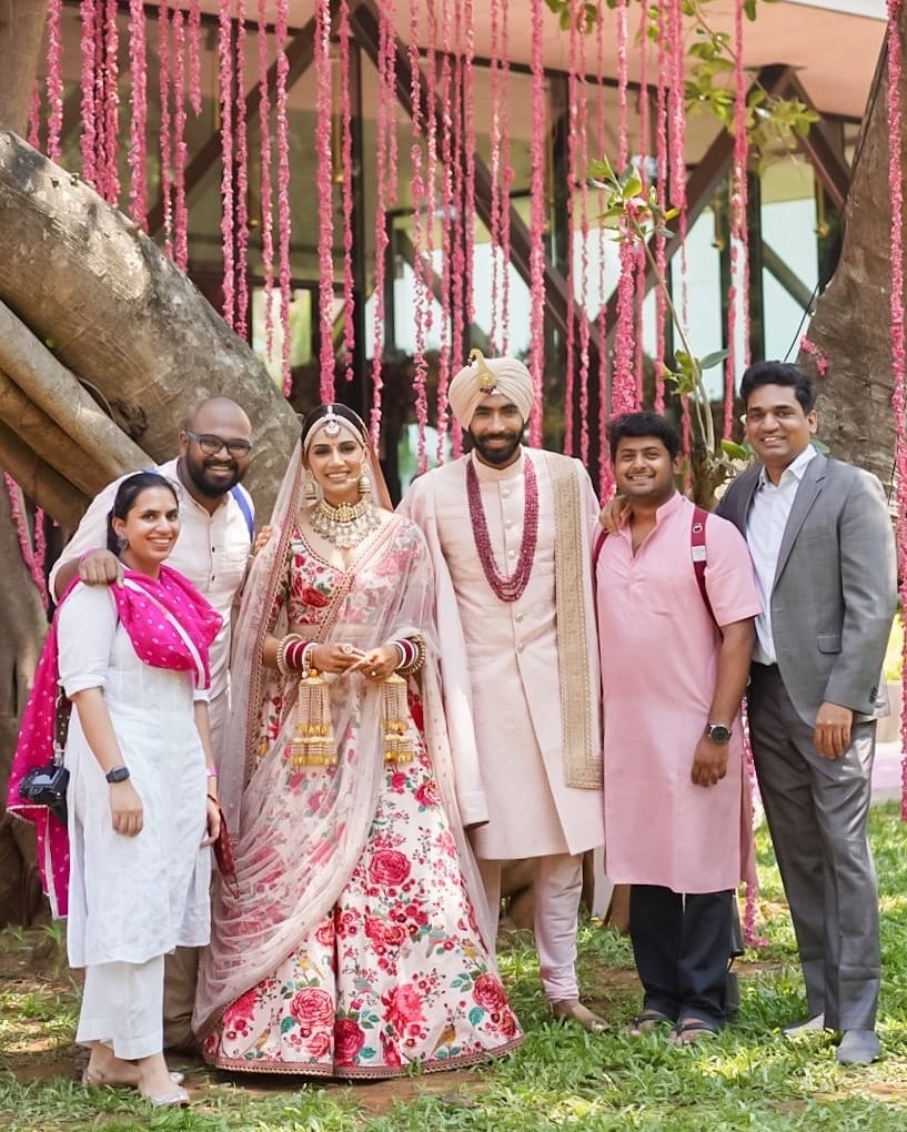 Indian Cricketer Jasprit Bumrah & Sports Presenter Sanjana Ganesan wedding photos
