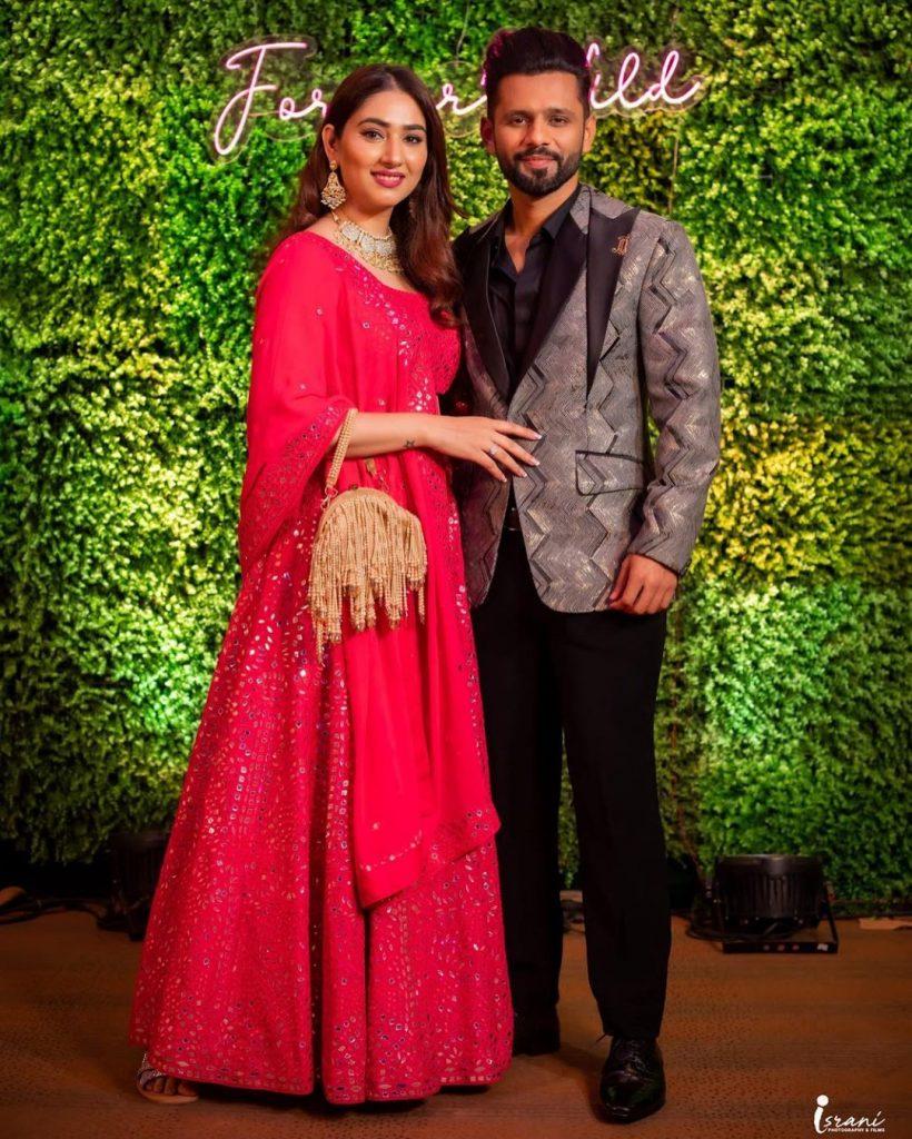 Rahul Vaidya & Disha Parmar at Megha Israni Sangeet