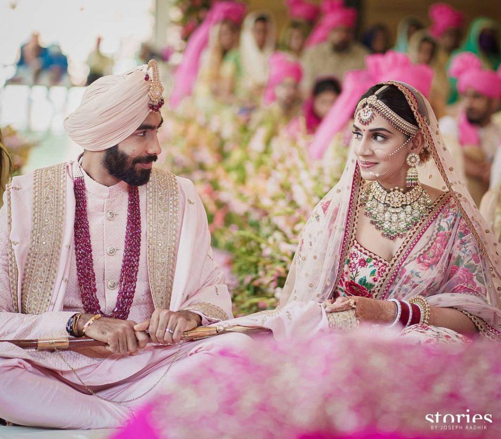 Jasprit Bumrah & Sanjana Ganesan wedding