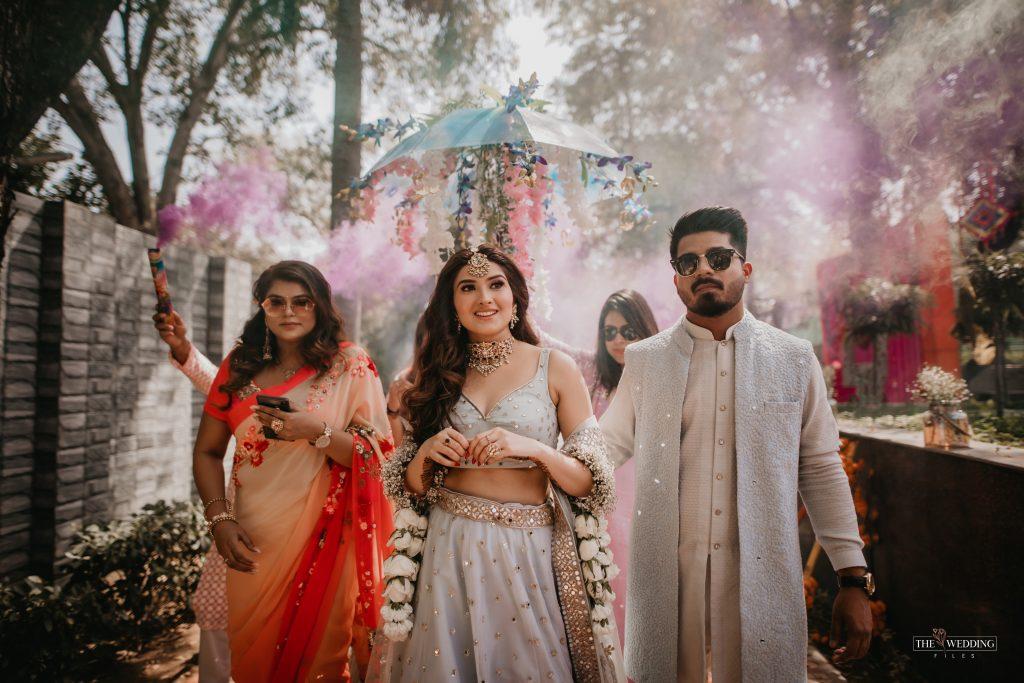 Indian bride & groom entry