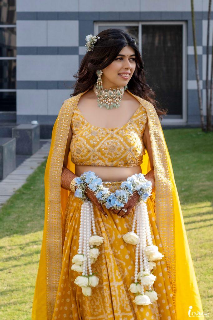Megha Israni Haldi Outfit