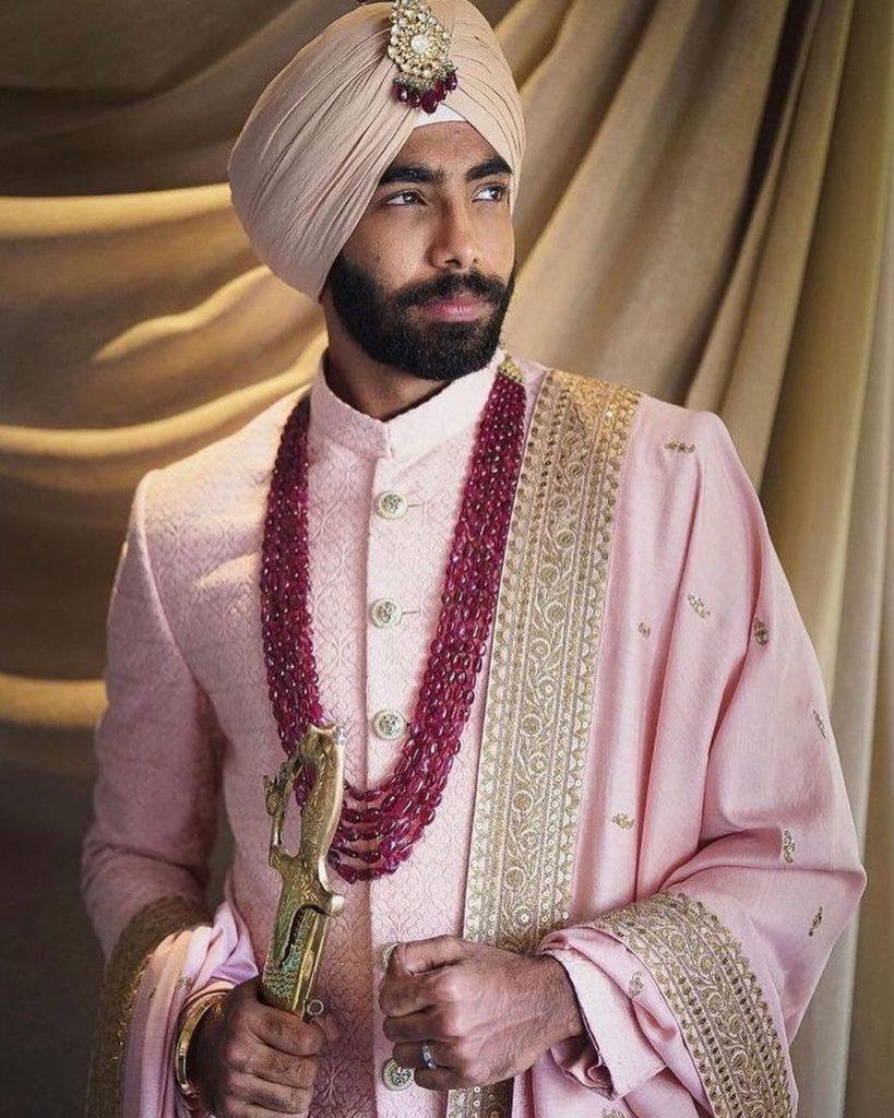 Jasprit-Bumrah-groom-outfit