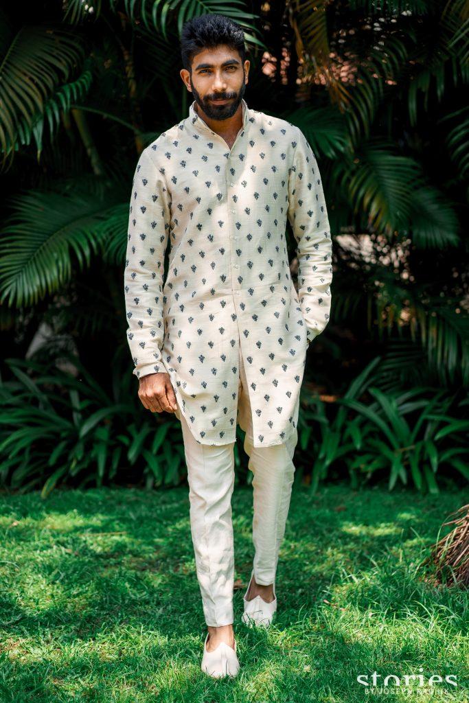 Indian Cricketer Jasprit Bumrah in Kunal Rawal for Welcome Lunch