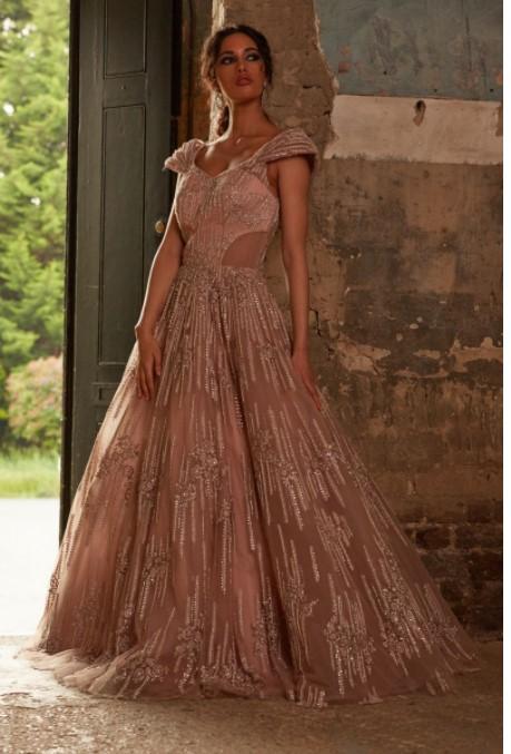 Rose Gold Designer Gown