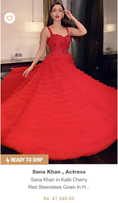 Buy Red Princess Gown Online in India