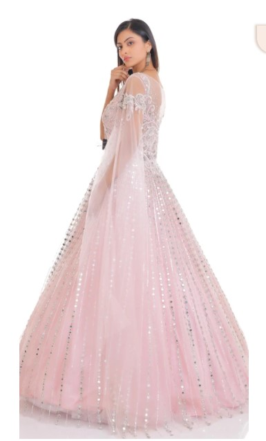 Pink Batwing Gown Online in India