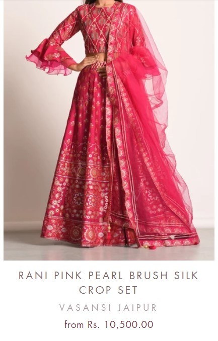 Pink Festive Wear Lehenga