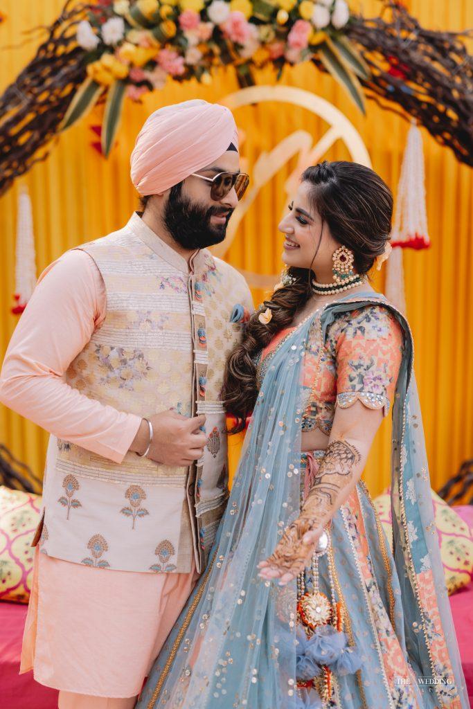 Sikh couple mehendi photos
