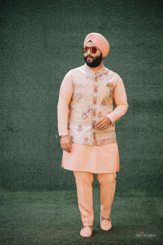 Sikh groom mehendi outfit